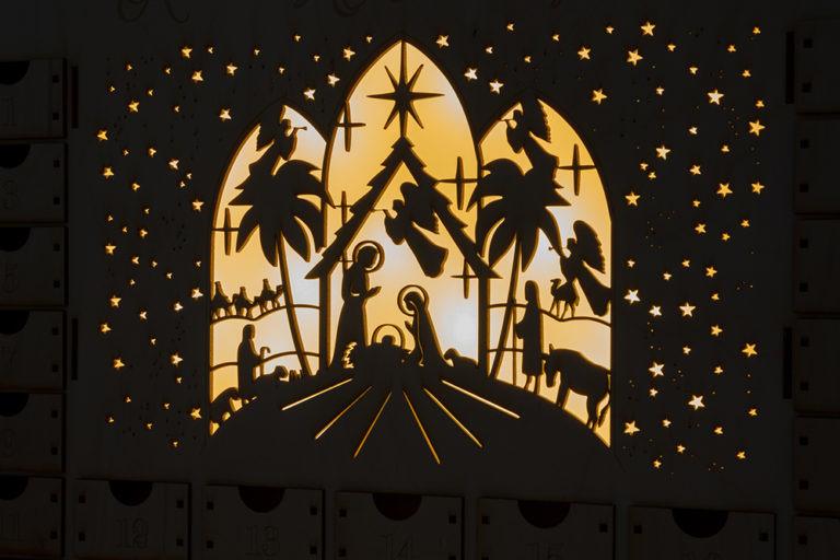 Kalendarz adwentowy lampka led podświetlany dekoracja świąteczna