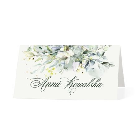 Winietka weselna z motywem kwiatów w stylu eko