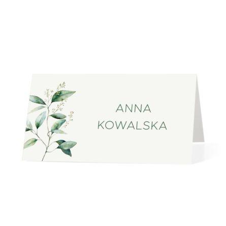 Winietka na stół weselny z zielonymi listkami
